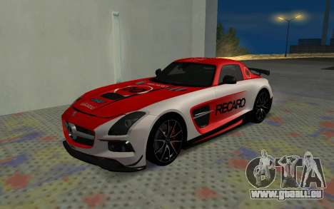 Mercedes-Benz SLS AMG 2013 Black Series pour GTA San Andreas vue intérieure