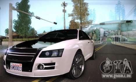 GTA V Tailgater für GTA San Andreas obere Ansicht