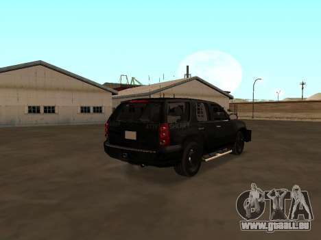 GMC Yukon ATTF für GTA San Andreas zurück linke Ansicht