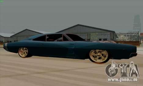 Dodge Charger 1969 Big Muscle pour GTA San Andreas sur la vue arrière gauche