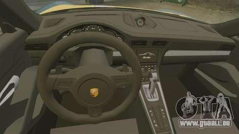 Porsche 911 Turbo 2014 [EPM] Alpinestars pour GTA 4 est une vue de l'intérieur
