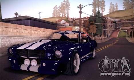 Shelby GT500 E v2.0 pour GTA San Andreas vue de droite
