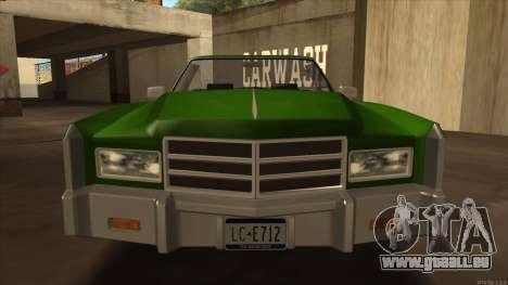 Esperanto HD from GTA 3 pour GTA San Andreas sur la vue arrière gauche