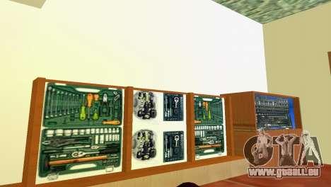 Outils d'atelier GTA Vice City pour la troisième écran
