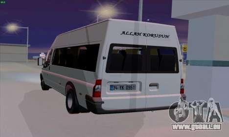Ford Transit Jumgo für GTA San Andreas zurück linke Ansicht
