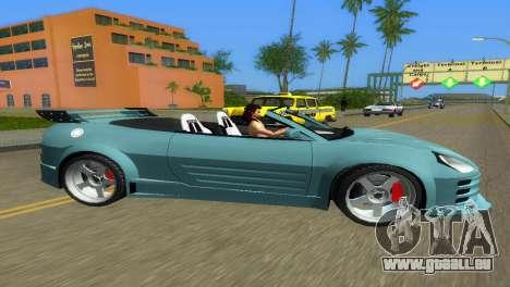 Mitsubishi Eclipse GT 2001 pour une vue GTA Vice City de la gauche