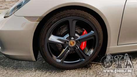 Porsche Cayman S 981C pour GTA 4 Vue arrière