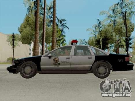 Chevrolet Caprice LAPD 1991 [V2] pour GTA San Andreas laissé vue