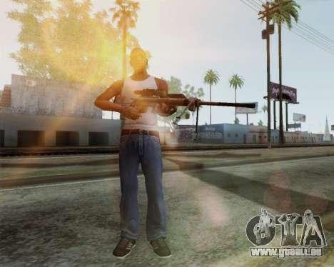 Fusil de sniper dans Call of Duty MW2 pour GTA San Andreas deuxième écran
