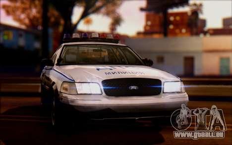 Ford Crown Victoria STR pour GTA San Andreas sur la vue arrière gauche
