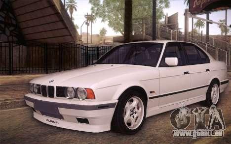 BMW E34 Alpina pour GTA San Andreas vue de côté