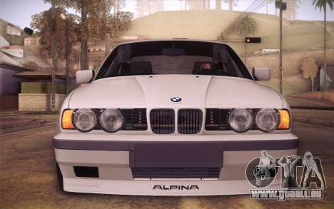 BMW E34 Alpina pour GTA San Andreas vue de droite