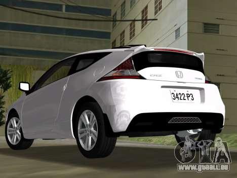 Honda CR-Z 2010 pour une vue GTA Vice City de l'intérieur
