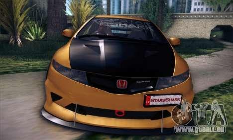 Honda Civic Type R Mugen pour GTA San Andreas vue de dessous