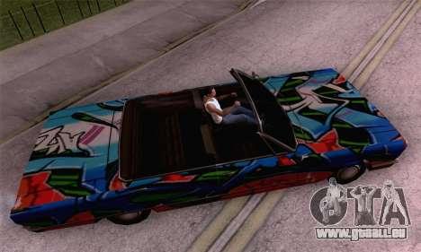 Die Malerarbeiten für Savanna für GTA San Andreas zurück linke Ansicht