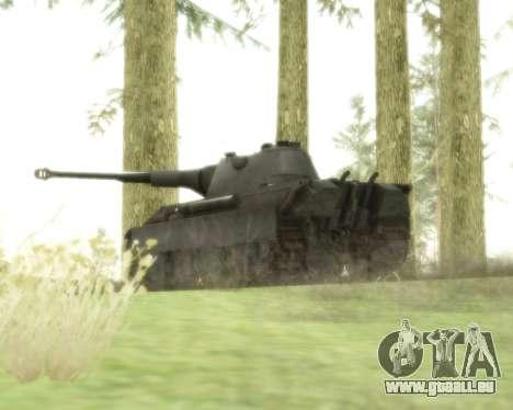 Pzkpfw V Panther II pour GTA San Andreas vue arrière