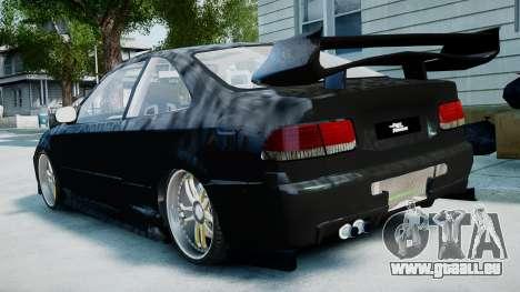 Honda Civic FnF pour GTA 4 est une gauche