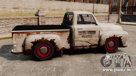 Rostigen alten Lastwagen für GTA 4 linke Ansicht
