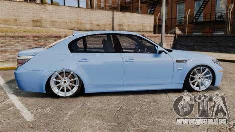 BMW M5 2009 pour GTA 4 est une gauche