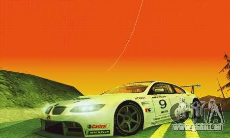 BMW M3 GT2 E92 ALMS pour GTA San Andreas vue intérieure