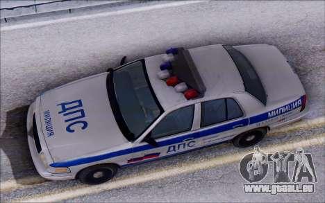 Ford Crown Victoria STR pour GTA San Andreas vue arrière