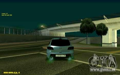 Mazda 3 für GTA San Andreas zurück linke Ansicht
