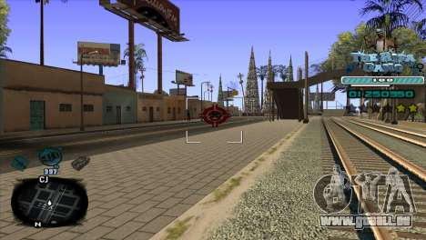 C-HUD Rifa Gang pour GTA San Andreas troisième écran