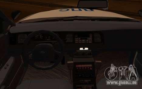 Ford Crown Victoria STR für GTA San Andreas rechten Ansicht