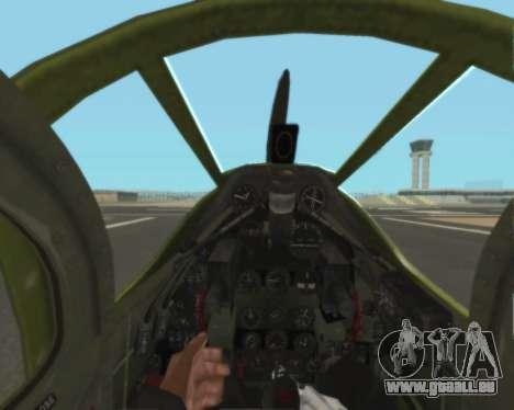 Aircobra P-39N pour GTA San Andreas vue de côté