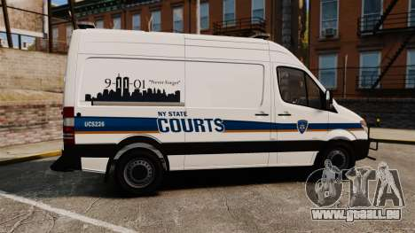 Mercedes-Benz Sprinter 2500 Prisoner Transport für GTA 4 linke Ansicht