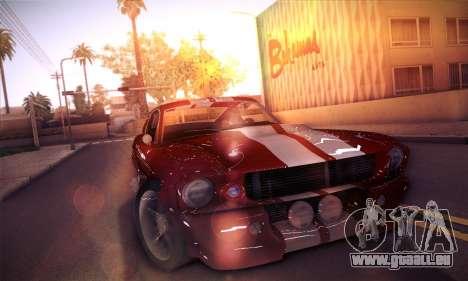 Shelby GT500 E v2.0 pour GTA San Andreas laissé vue