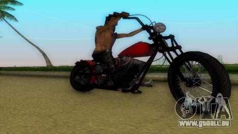 Harley Davidson Shovelhead für GTA Vice City Innenansicht