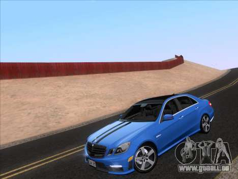 Mercedes-Benz E63 AMG 2011 Special Edition für GTA San Andreas zurück linke Ansicht