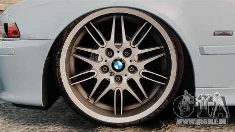 BMW M5 E39 2003 pour GTA 4 Vue arrière