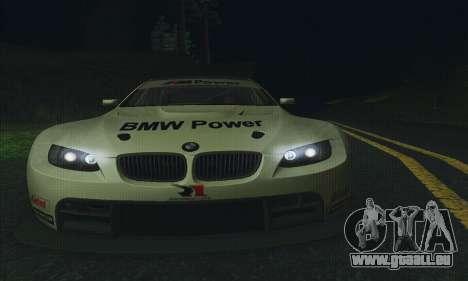 BMW M3 GT2 E92 ALMS pour GTA San Andreas vue de côté