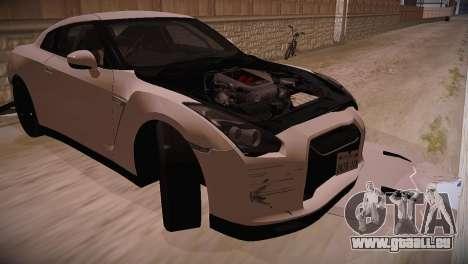 Nissan GT-R SpecV Ultimate Edition pour GTA San Andreas vue de droite