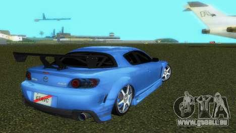 Mazda RX8 Type 1 für GTA Vice City obere Ansicht