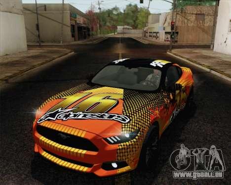 Ford Mustang GT 2015 für GTA San Andreas Räder