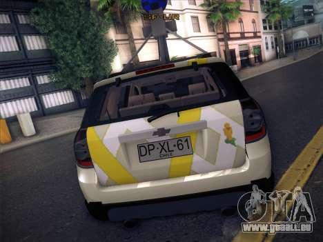 Chevrolet Google Street View Chile pour GTA San Andreas vue arrière