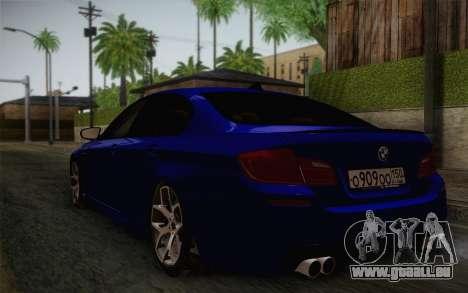BMW M5 F10 v2 pour GTA San Andreas laissé vue