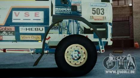 MAN TGA GINAF Dakar Race Truck pour GTA 4 Vue arrière de la gauche