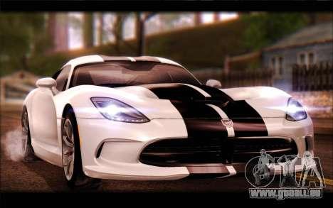 SRT Viper Autovista für GTA San Andreas Seitenansicht