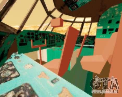 Il-76td v2.0 pour GTA San Andreas vue intérieure