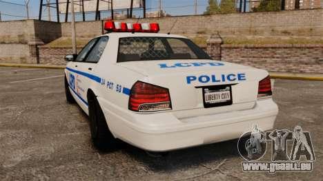 GTA V Police Vapid Cruiser LCPD pour GTA 4 Vue arrière de la gauche