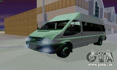 Ford Transit Jumgo für GTA San Andreas obere Ansicht