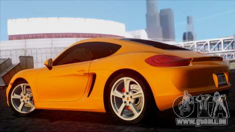 Porsche Cayman S 2014 für GTA San Andreas linke Ansicht
