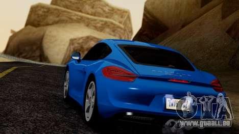 Porsche Cayman S 2014 für GTA San Andreas rechten Ansicht