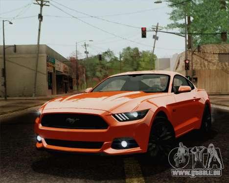 Ford Mustang GT 2015 für GTA San Andreas Innen