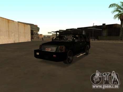 GMC Yukon ATTF für GTA San Andreas Innenansicht