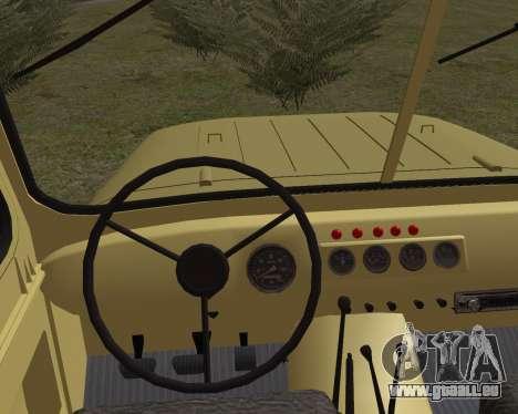 UAZ 31512 für GTA San Andreas zurück linke Ansicht